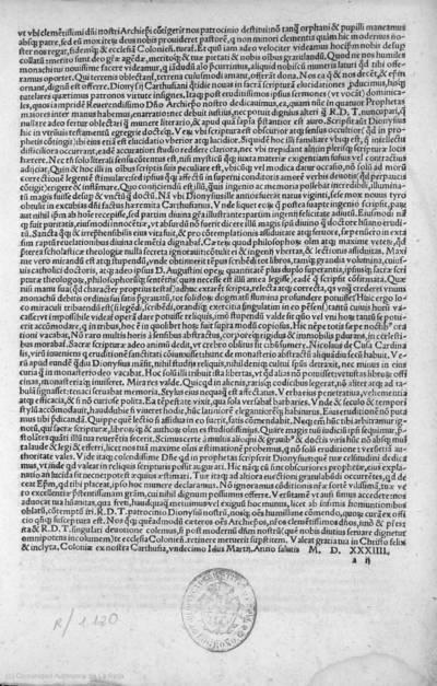 [D. Dionysii Carthusiani Enarrationes piae ac eruditae in IIII Prophetas Maiores : Esaiam fol. 1, Hieremiam fol 159, Ezechielem fol 285, Danielem fol. 373 ...]