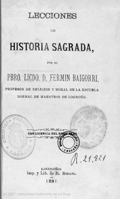 Lecciones de Historia Sagrada