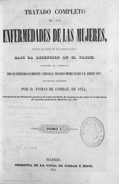 Tratado completo de las enfermedades de las mujeres
