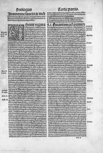 Tertia pars totius su[m]me maioris beati Antonini