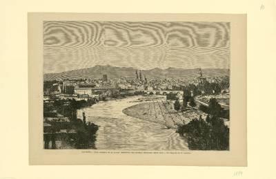 Logroño, vista general de la ciudad, residencia del general Espartero desde 1848 [Material gráfico]