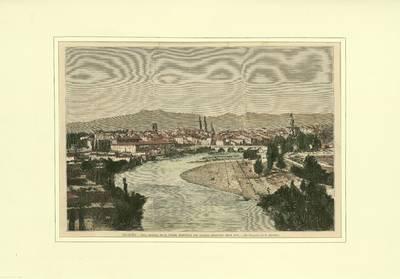 Logroño, vista general de la ciudad residencia del general Espartero desde 1948 [Material gráfico]