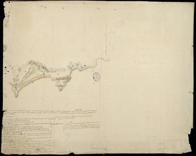 Plano de una porción de las Yslas de Bayona