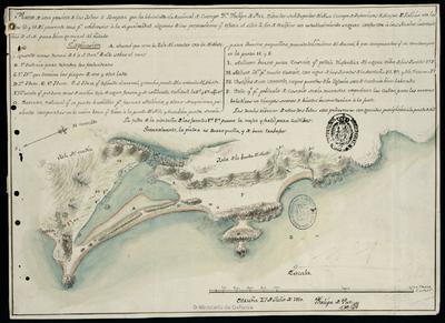 Plano de una porcion de las Islas de Bayona
