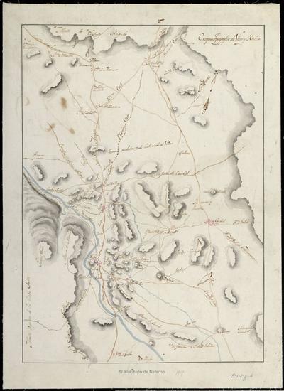 Croquis topográfico de Viver y Xerica