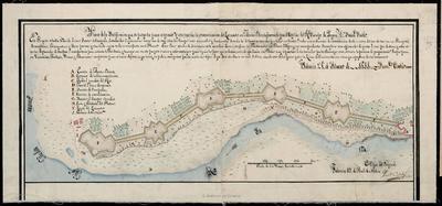Plano de la Fortificación que se proyecta para asegurar la comunicación del Lazareto con Monte - Olivete