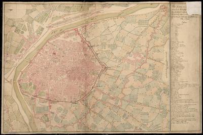 Plano geométrico de la Plaza de Valencia y sus contornos con las obras de Fortificación construidas en la actual época
