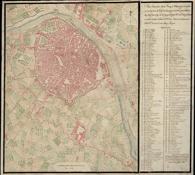Plano Geométrico de la Plaza de Valencia y sus contornos con las obras de Fortifn. construidas en la actul. epoca