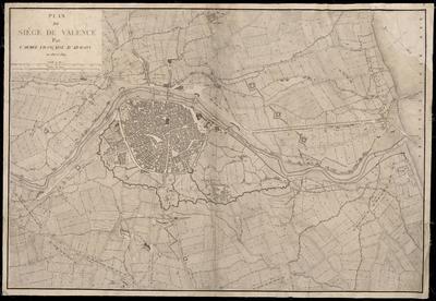 Plan du siége de Valence par l'Armée Francaise d'Aragon en 1811 et 1812