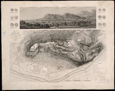 Plan de Sagonte : assiegé et pris le 26 Octobre 1811 par l'Armée Francaise d'Aragon commandée par S.Lr. le Marechal Suchet Duc d'Albufera