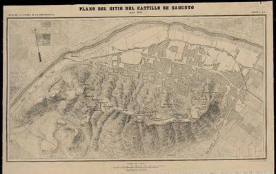 Plano del sitio del Castillo de Sagunto : año 1811