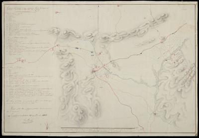 Croquis del Terreno en que sostuvieron Acción las tropas del 3 Exercito el 21 de Julio 1812 sobre Ybi y Castalla : Formado por los Partes y Croquises parciales, bien que aumentandolos o corrigiendolos