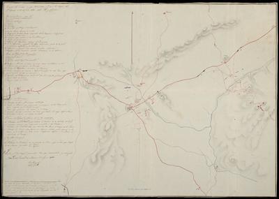 Croquis del terreno en que sostuvieron Acción las tropas del 3 Exercito el 21 de Julio de 1812 sobre Ybi y Castalla : Formado por los croquis. parciales, bien que aumentados y corregidos