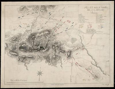 Plano de la Acción de Castalla dada en 13 de Abril de 1813
