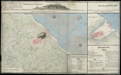 Plano de la Ciudad y Castillo de Denia