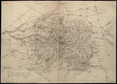 Plano geográfico de las Sierras de Segura, y de Alcaras
