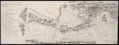 Croquis geografo - topográfico que manifiesta la relación de Lorca con Aledo