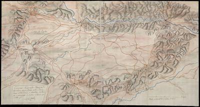 Croquis Geografo - Topográfico del terreno comprendido entre Mula, Ciezar, Moratalla y Carabaca
