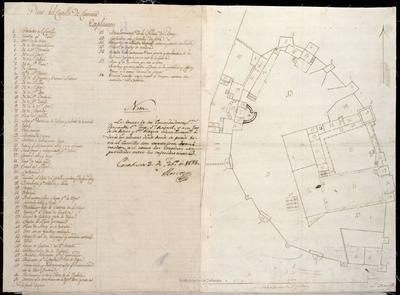 Plano del Castillo de Caravaca
