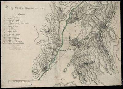 Plano Croquis de la Villa de Carabaca en el Reyno de Murcia
