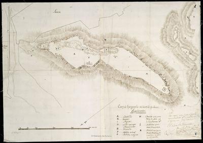 Croquis topográfico del Castillo de Lorca