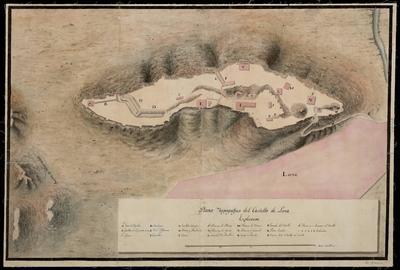 Plano Topográfico del Castillo de Lorca