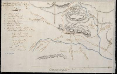 Plano croquis de la Villa de Mula y sus alrededores. En el Reyno de Murcia