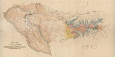 Canal de Isabel II [Material cartográfico] : plano general que comprende la cuenca del río Lozoya que abastece Madrid, presas, embalses , toma de aguas, canales de conducción, depósitos, acequias de riego, arterias de distribución, etc. y aprovechamiento de energía hidroeléctrica