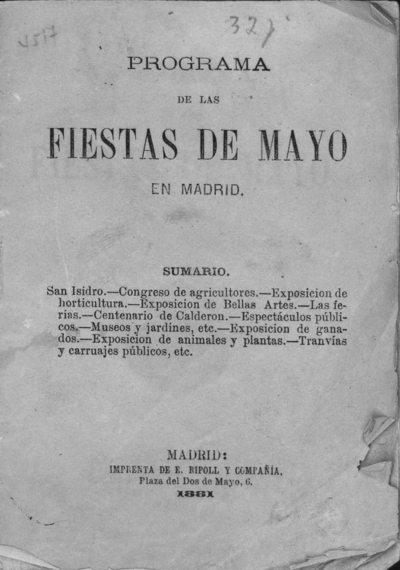 Programa de las fiestas de mayo en Madrid