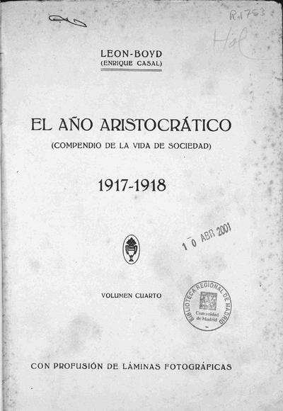 El Año aristocrático : (compendio de la vida elegante)