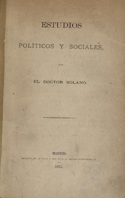 Estudios políticos y sociales