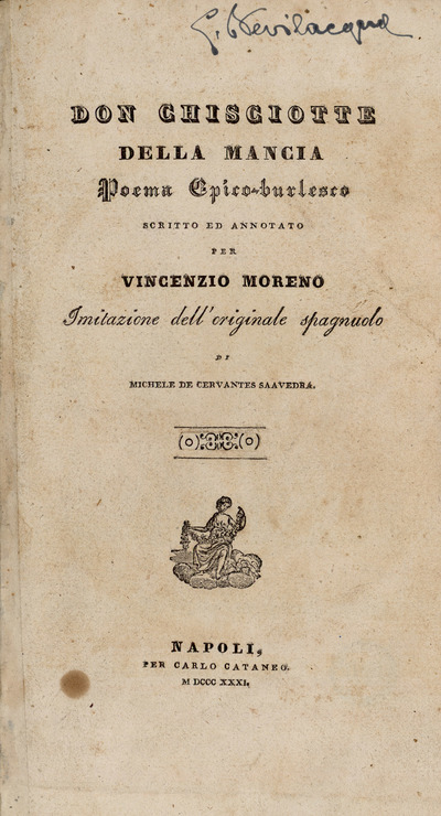 Don Chisciotte della Mancia : poema epico-burlesco