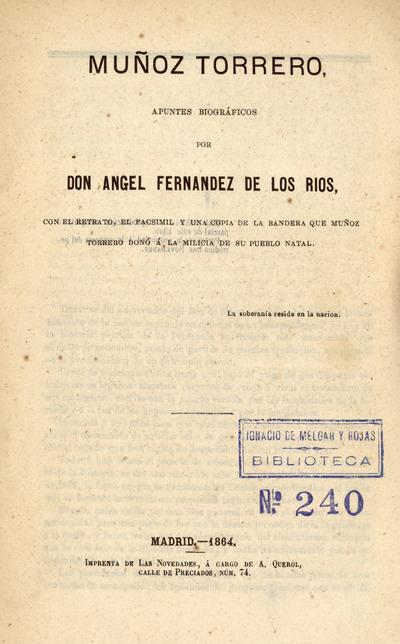 Muñoz Torrero : apuntes biográficos