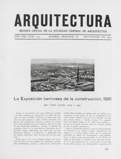 Arquitectura : revista oficial de la Sociedad Central de Arquitectos