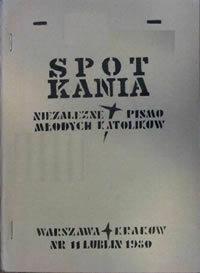 Spotkania : niezależne pismo młodych katolików, 1980, Nr 11