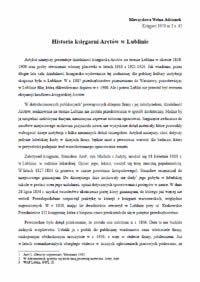 Historia księgarni Arctów w Lublinie