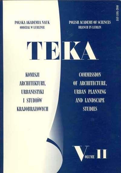 Teka Komisji Architektury, Urbanistyki i Studiów Krajobrazowych, Tom II