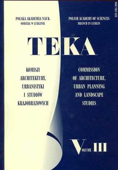 Teka Komisji Architektury, Urbanistyki i Studiów Krajobrazowych, Tom III