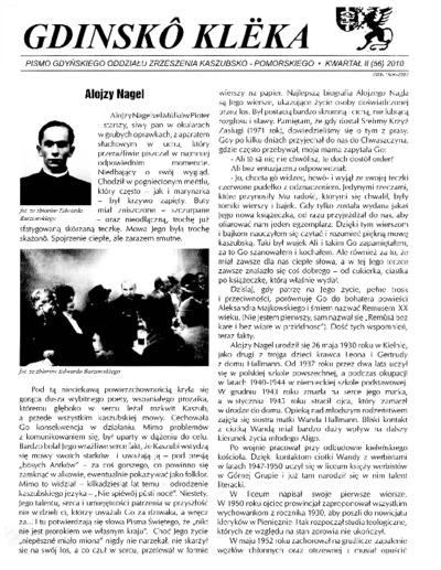 Gdinskô Klëka : pismo Gdyńskiego Oddziału Zrzeszenia Kaszubsko-Pomorskiego. Nr
