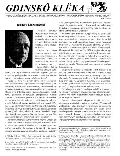 Gdinskô Klëka : Pismo Gdyńskiego Oddziału Zrzeszenia Kaszubsko-Pomorskiego Kwartał II-III Nr 2/3 (60-61) 2011