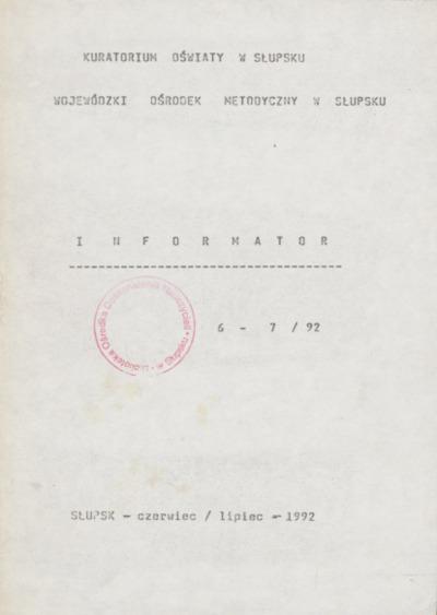 Informator, 1992, nr 6/7