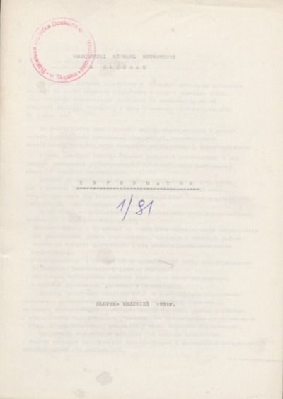 Informator, 1991, nr 1