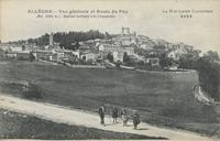 Allègre.-Vue générale et Route du Puy (Alt. 1093 m.). Station estivale très fréquentée