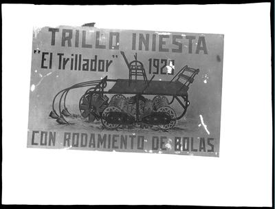 Cartel publicitario de maquinaria agrícola