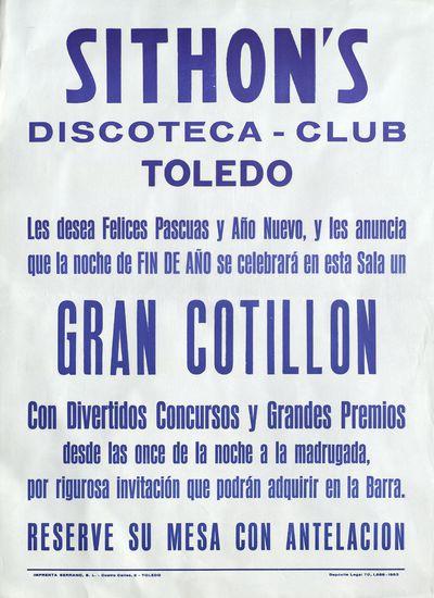 Sithon¿s discoteca-club, Toledo [ [Material gráfico]: gran cotillón con divertidos concursos y grandes premios.