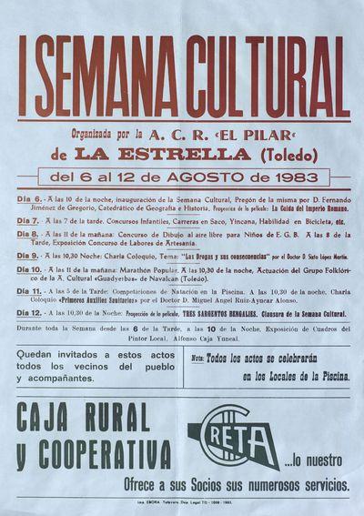 I Semana Cultural de La Estrella (Toledo) [ [Material gráfico]: del 6 al 12 de agosto : [programación].