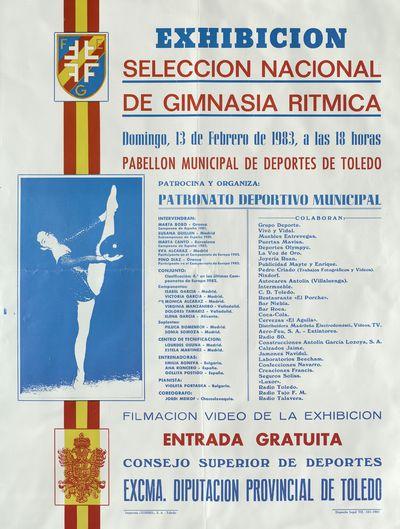 Exhibición Selección Nacional de Gimnasia Rítmica [ [Material gráfico]: 13 de febrero de 1983, Pabellón municipal de deportes de Toledo.