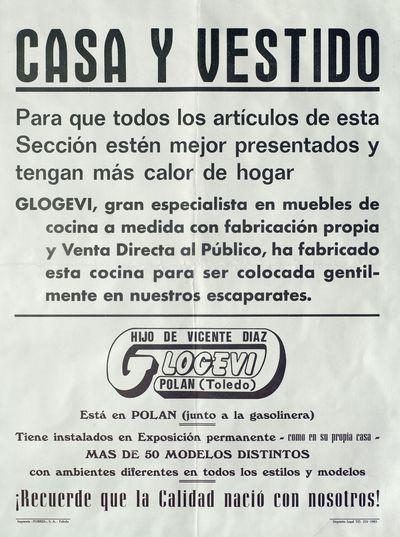 Casa y Vestido [ [Material gráfico]: Glogevi, hijo de Vicente Diaz, Polán (Toledo).