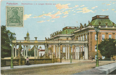 Potsdam. Stadtschloss v. d. Langen Brücke aus.