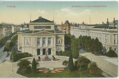 Leipzig. Konzerthaus u. Universitätsbibliothek.